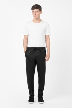 Jersey drawstring trousers