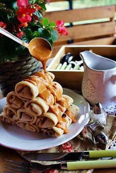 Illéskrisz Konyhája: ~ HORTOB�GYI PALACSINTA ~ Hungarian Girls, European Cuisine, Perfect Food, Waffles, Cereal, Dinner, Breakfast, Eastern Europe, Puddings