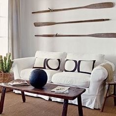 Decorating Nautical With Wooden Oars As Wall Decor Rods Racks And Handrails Stylish Interesting Ways To Use For