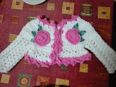 DIY.Tutorial handmade crochet baby sweater-bolero crosetat