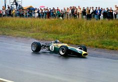 Jim Clark in action at the Canadian Grand Prix in Mosport in '67. Lotus 49. LAT photo. RACER.com