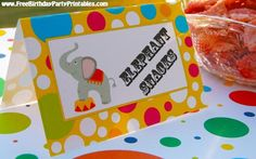 Free Printable Circus Birthday Party Tent Cards- By Free Birthday Party Printables