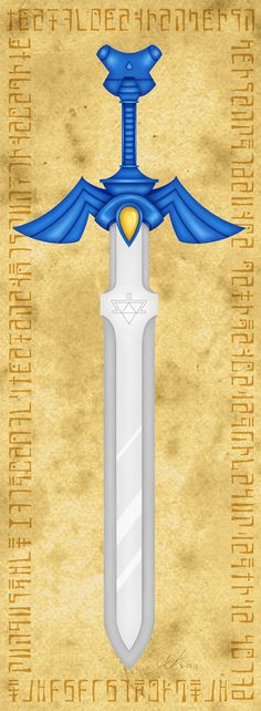 Legend of Zelda Master Sword Small Poster Print by SyraCourage.