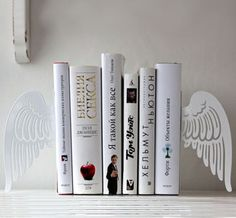 Winged Bookends >> Lovely!
