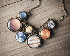 Sistema solar  joyas del espacio  declaración collar por BeautySpot