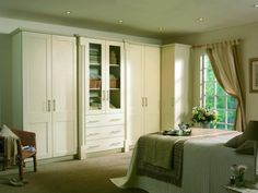 #ivory #pvc #wardrobes #design #living #bedroom #colours #painted #wood #style #stylish #'living #decor