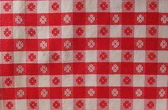 Vintage Red White Gingham Tablecloth | eBay