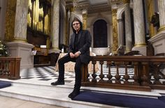 """Tony Iommi inside Birmingham Saint Philip Cathedral on 5 January 2017, during the presentation event of his new piece of choral music """"How Good It Is""""."""