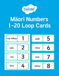 Loopy cards in Te Reo to 20 Symmetry Art, Classroom Displays, Numeracy, Hands On Activities, Numbers, Kindergarten, Year 2, This Or That Questions, Learning