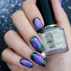 💕 galaxystyle goes nerver out of style. Born Pretty Nail Polish, Pretty Nails, Chameleon Nails, Born Pretty Store, Galaxy Nails, Sale Store, Top Coat, Aurora, Things To Think About