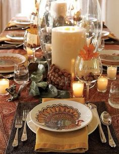 10 Models For Candles Effect Kitchens Decorations | DIY Home ~ Autumn  Decorating | Pinterest | Thanksgiving Table, Thanksgiving And Decoration
