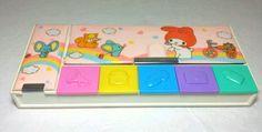 Vintage 1986 Sanrio MY MELODY Pencil Case - Pre Owned RARE Hello Kitty