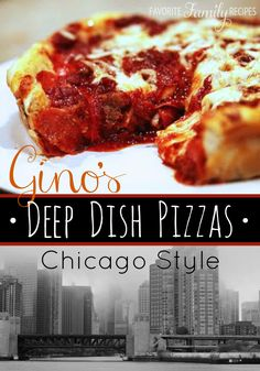 Our version of Chicago's Gino's East Deep Dish Pizza is an amazing knock off of the original! A deep dish with cheese on the bottom and sauce over the top!
