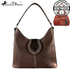 Montana West Genuine Leather Flap Concealed Handbag (MW307-119)
