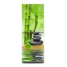 Sticker décor de frigo bambous et galets                                                                                                                                                                                 More
