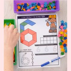 Help your students learn numbers in a fun and engaging way with these Build & Write Number Mats! Activities For 5 Year Olds, Pre K Activities, Toddler Learning Activities, Kindergarten Activities, Shape Activities For Preschoolers, Preschool Learning, Teaching Kids, Student Learning, Math For Kids