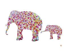 Elefante madre e hijo