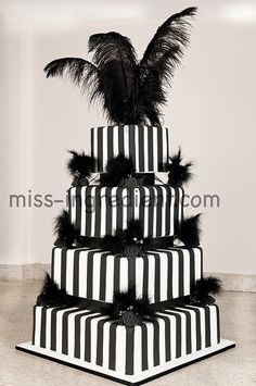 Black And White Birthday Cake Omit The Decorations And Alternate The Tiers Between Black And White White And Black