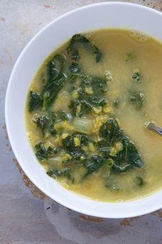 Vegan Coconut Curry Lentil Soup with Kale Recipe // Dula Notes