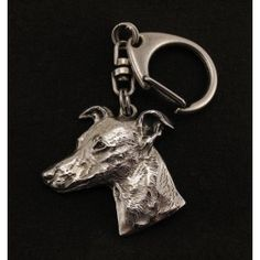 Whippet dog keyring keychain limited edition by ArtDogshopcenter Dog Lover Gifts, Dog Lovers, Whippet Dog, Best Artist, Dog Supplies, Bull Terrier, Statue, Dogs, Silver
