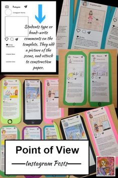 Create an Instagram post from the point of view of a historical figure or a book character. Great for POV and perspective. FREE! Grades 4+