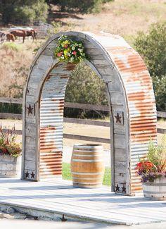rustic ceremony arch ideas http://www.weddingchicks.com/2013/09/05/holland-ranch/