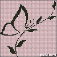 Butterfly 5 scheme download monochrome embroidery butterfly animals