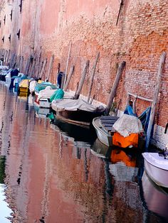 Boats at rest in Venice Bologna, Places Around The World, Around The Worlds, Places To Travel, Places To Go, Venice Italy, Italy Italy, Places In Italy, Dream Vacations