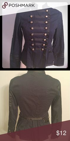 Ali & Kris Military Style Blazer Size S Excellent condition! Dark navy with black accents & silver buttons Ali & Kris Jackets & Coats Blazers