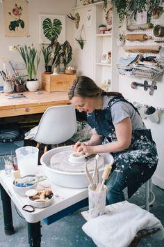 tips on designing a home studio - plus behind the scenes process — Kt Robbins Ceramics Home Art Studios, Art Studio At Home, Clay Studio, Ceramic Studio, Paint Studio, Pottery Workshop, Pottery Studio, Metal Design, Art Studio Design