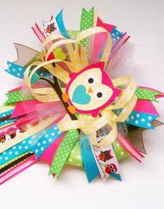 Owl Themed Baby Shower Corsage. $35.00, via Etsy.