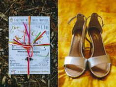 gold wedding shoes - photo by Orange Owl Photography http://ruffledblog.com/a-whimsical-bohemian-wedding-in-la-jolla