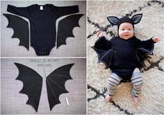 43 Cutest Ever Kids Halloween Costumes Every Mom Would Want Baby Bat Costume In Black For You Little Costume Halloween Bebe Garcon, Diy Bat Costume, First Halloween, Family Halloween Costumes, Diy Costumes, Halloween Kids, Kids Elf Costume, Stroller Halloween Costumes, Baby Girl Halloween
