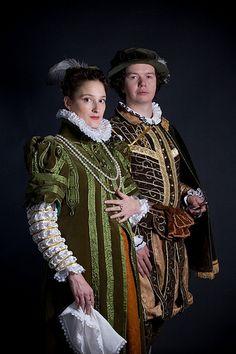 Masha and Danil in Elizabethan costume, Photo by Kseniya Lisovik