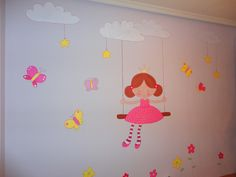 Magic For Kids, Art For Kids, Kids Room Murals, Wall Murals, Baby Girl Room Decor, Hand Painted Walls, Girls Bedroom, Wall Stickers, Decoration