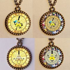 Online Shop wholesale lot.9$ lot GRAVITY FALLS BILL CIPHER WHEEL Necklace Antique glass Pendant Jewelry Hot chain Picture Art Distributor|Aliexpress Mobile