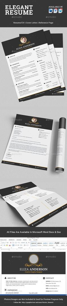 Resume Template, Resume cv and Design resume - microsoft resume templates 2018