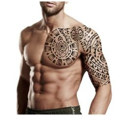 Sleeve and pec maori tattoo