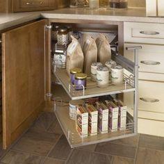 Blind Corner Cabinet Storage Ideas