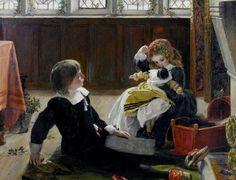 'Under the Mistletoe' by John Calcott Horsley