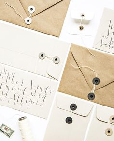 DIY Project: Button   String Envelopes 2 Ways
