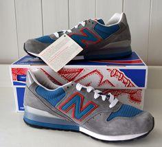 NIB! Mens NEW BALANCE 996 Sneakers SUEDE 9.5 D MEDIUM Gray ORANGE Shoes RUNNING #NewBalance #AthleticSneakers