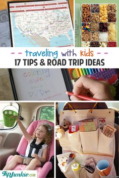 Engaging road trip ideas while traveling with kids! I've got you hooked up with traveling with kids tips, games, activities, snacks, as well as arming you with must-have organizing ideas. Whether you're traveling by car, boat, or plane you'll be able to use these road trip tips for almost any age of kiddo. Traveling with Kids Tips 1. Road Trip Pillow Case~ These road trip pillow cases are FAB-U-LOUS! They have a pocket for coloring books and other toys as well as a handle for...