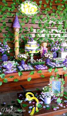Love this Tangled Rapunzel birthday party! See more party ideas at CatchMyParty.com!