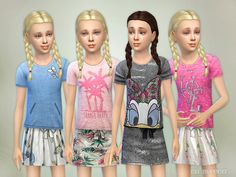 Skirt Collection Child Found in TSR Category 'sims 4 Female Child Everyday' Sims 4 Teen, Sims 4 Toddler, Sims 1, Sims 4 Game Mods, Sims 4 Mods, Sims 4 Children, 4 Kids, The Sims 4 Download, Sims 4 Clothing