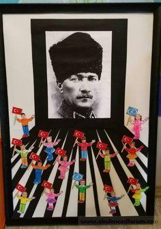 Atatürk project work - New Deko Sites Christmas Door Decorations, School Decorations, Preschool Art, Preschool Activities, Act For Kids, International Children's Day, Diy And Crafts, Crafts For Kids, Reading Themes