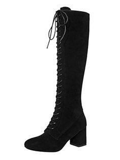 gracosy Mocassins Talons/Femmes Bottines en Cuir Talons Hauts Confortable Chaussures/de Ville//à Lacets Boots Printemps Et/é Originales Boh/ème Multicolore Rouge