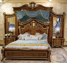 An exceptional master bedroom set with optional boiserie from our exclusive furniture masterpiece collection, handmade European furniture. Additional items a...