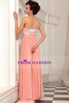 2013 Prom Dresses Fast Delivery A Line One Shoulder Chiffon Floor Length 30797#