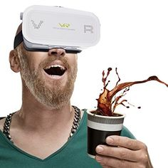 Generic Virtual Reality 3D Video Glasses for iPhone 6 Plus  Samsung Galaxy S7 etc 35 inch  57 inch SmartphoneWhite * Check this awesome product by going to the link at the image.Note:It is affiliate link to Amazon.